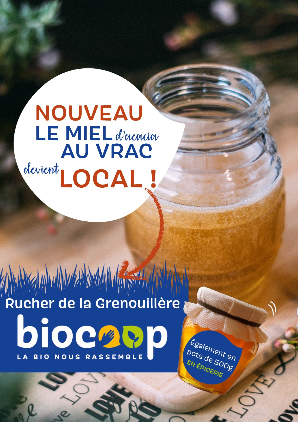 Du miel LOCAL et AU VRAC !